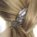 bijou de cheveux  feuilles hématite