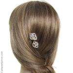 épingles à cheveux camélia strass