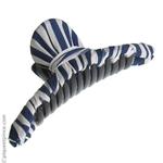 pince cheveux tissu bleu et blanc