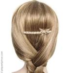 peigne pour coiffure de mariage papillon