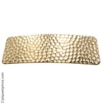 barrette cheveux en métal doré