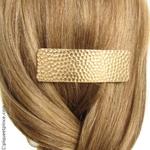 barrette cheveux  métal doré