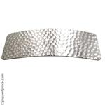 barrette cheveux en métal argenté