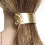 Barrettes cheveux métal doré