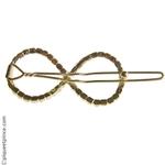 Barrette cheveux  en métal doré et strass