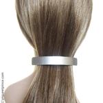 Barrette cheveux argent métalisé