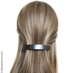Barrette cheveux noir métalisé