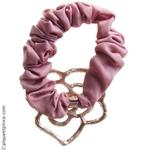 elastique cheveux rose