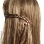 barrette coiffure tresse couleur bronze