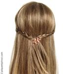 barrette coiffure tressée couleur bronze