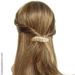 barrette cheveux palme métal