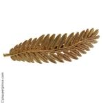 barrette or palme métal