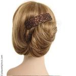 barrette pailletée cheveux bruns