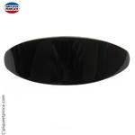 Grande barrette noire ovale cheveux épais