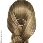barrette cheveux strass et métal dorée