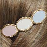 barrette cheveux bijou pastel