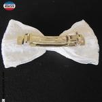 barrette dentelle noeud blanc