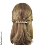 Barrette mariage grosses perles blanches