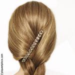 Barrette cheveux gourmette argent