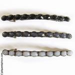 barrettes vintage très fine noir gris