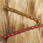 Barrettes cheveux abricot et brique