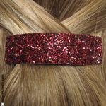 barrette cheveux rouge bordeaux