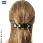 barrette cheveux claire et foncée made in France