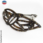 Barrette cheveux onyx made in France
