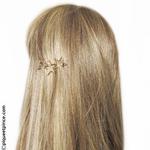 Barrette cheveux étoiles gold