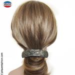 Barrette bombée pour cheveux épais