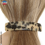 GRANDE barrette 11cm clair made in France