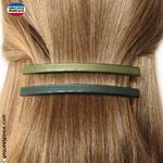 barrettes cheveux   couleurs vertes