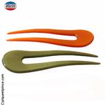 Pic à cheveux fabrication Française orange ou vert