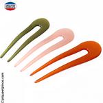 épingle à chignon couleur verte, rose pale ou orange
