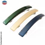 Barrettes fines couleurs vert, vanille, bleu marine fabrication Française