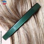 Barrette fine couleur vert foncé made in France