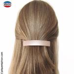 Barrettes cheveux coiffure demi queue