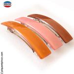 Barrette cheveux orange, rose ou marron made in France