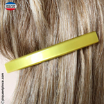 barrette cheveux jaune made in France