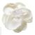 Pince cheveux grande fleur blanche