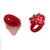 élastiques enfant fraises rouges