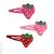barrettes clic-clac fraise