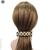 barrette cheveux noir, beige et strass