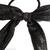 élastique cheveux noeud en tissu noir lamé argent