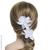 coiffure de mariage fleurs blanches