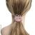 accessoire cheveux rose poudré et camélia strass