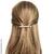 barrette cheveux strass et métal