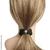 élastique cheveux tissu satiné noir et strass
