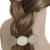 barrette cheveux pastel et or
