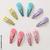 Mini barrettes clic clac pastel